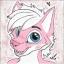 Pink Snowy Fox